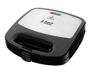 Russell Hobbs 4008496937660 RU-24540 3-in-1 Sandwich/Panini and Waffle Maker, 760 W, Black, £29 at Amazon