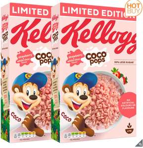 Kellogg's Coco Pops Strawberry & White Chocolate Flavour, 2 x 480g £3.59 instore @ Costco (Hayes)