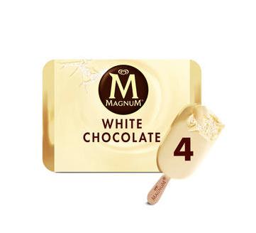 Magnum White Chocolate and Classic Ice Cream 4 X110ml £1.79 at Home Bargains Caerphilly