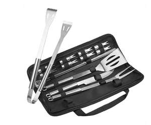 TaoTronics 18pcs Stainless Steel BBQ Tools Set £9.99 prime + £4.49 non prime Sold by QXC-Lighting Fulfilled by Amazon