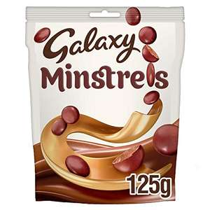 Galaxy Minstrels Chocolate Bag, 125g (Packaging May Vary) £1.25 prime / £5.74 non prime @ Amazon