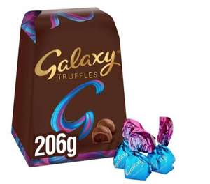Galaxy Milk Chocolate Truffles 206g £3.50 Clubcard Price (Delivery Fees / Minimum Basket Charges apply) (50p via checkoutsmart) @ @ Tesco