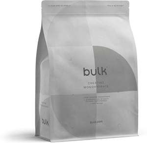Bulk Creatine Monohydrate Powder, Pure Unflavoured, 1kg £10.60 Prime +£4.49 non Prime (£9.54 subscribe and save) at Amazon