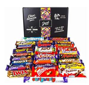Chocolate Lovers Ultimate Hamper Lunar Box Huge Selection of Your Favourite Chocolate Bars £23.25 Sold by CB UK LTD and Fulfilled by Amazon