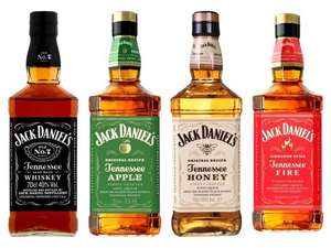 Jack Daniel's Tennessee Whiskey / Apple / Honey / Fire 70cl - £16 (Minimum Basket / Delivery Fees Apply) @ Tesco