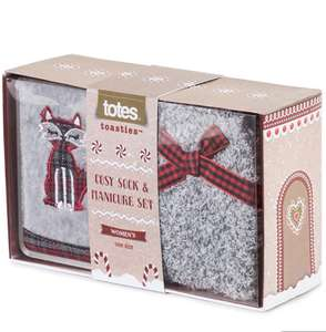 totes Ladies Cosy Socks & Manicure Set Grey Fox £4.99 + £2.95 delivered @ totes