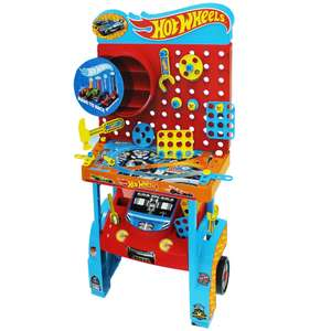 Hot Wheels 80cm Tool Bench inc 38 tools and 6 car garages £20 (free del) online @ weeklydealsforless