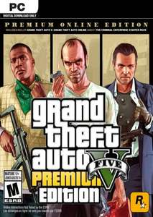 Grand Theft Auto V 5 (GTA 5): Premium Online Edition PC £6.99 at CDKeys