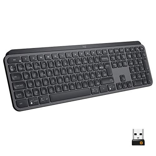 Logitech MX Keys Advanced Illuminated Wireless Keyboard, AZERTY French Layout - Graphite Black - £54.91 @ Amazon