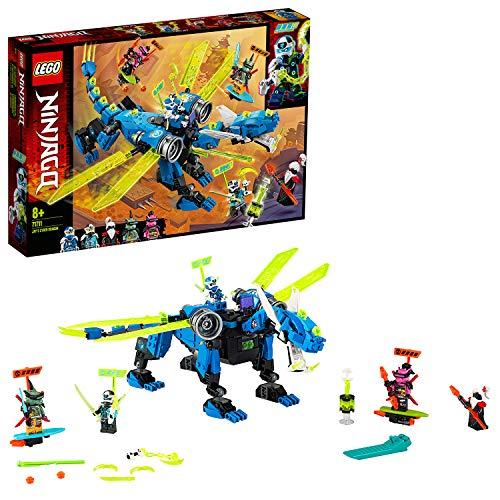 LEGO Ninjago 71711 Jay's Cyber Dragon Mech Building Set, with Jay, Nya and Unagami Minifigures - £27.50 @ Amazon