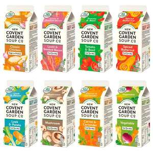 Covent Garden Soups (560g - Various Flavours) for £1 (Min Spend / Delivery Fee Applies) @ Morrisons