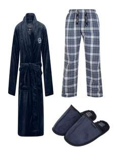 Men's Dressing Gown + Lounge Pants + Slippers for £28 + £1.99 Delivery From Tokyo Laundry