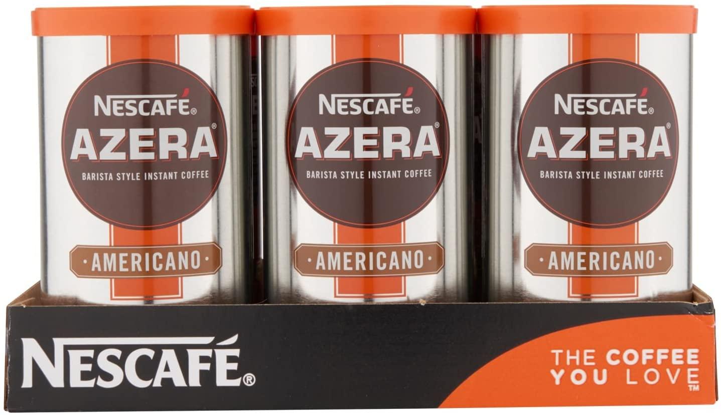 NESCAFÉ AZERA Americano Instant Coffee Tin 100g Pack of 6 £16.44 prime / £20.93 nonPrime (£13.97 S&S) Amazon