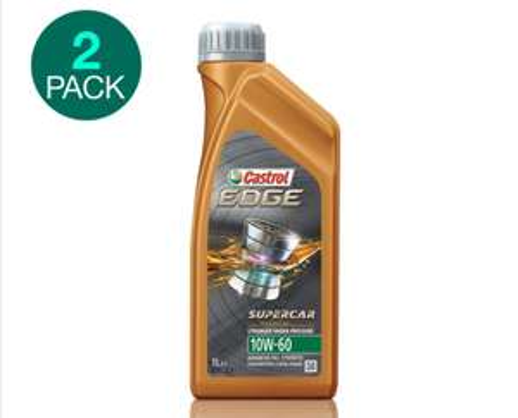 Castrol Edge Super Car 10w60 Engine Oil, 2 x 1 Litre £16.99 @ Costco