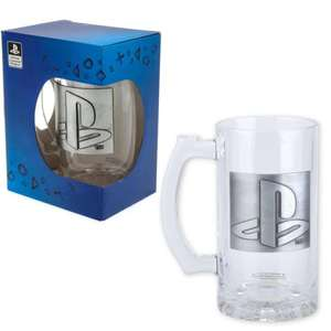 Officially Licensed Playstation 500ml Glass Stein With Metal Badge / Logo - £9.56 With Using Code + Free Delivery @ Top Toys 2 U