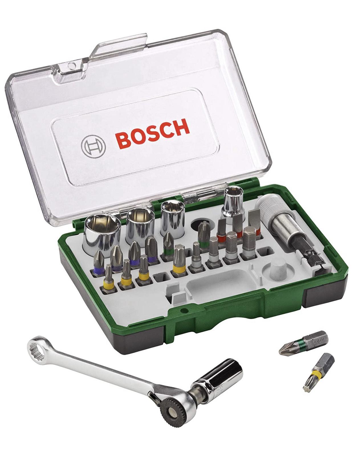 Bosch 27-Piece Screwdriver Bit and Ratchet Set £16.44 (+£4.49 non-prime) @ Amazon
