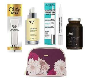 £10 Tuesday includes, Olay Eyes Pro-Retinol, No7 Youthful Replenishing,Ted Baker Wash Bag + £3.50 Delivery @ Boots