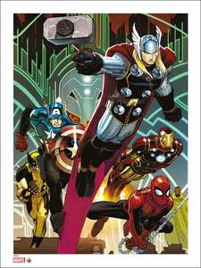 Marvel: Giclee Print: Avengers 1 By John Romita Jr (Signed & Numbered) - ONLY 50 Produced £20.49 delivered @ Forbidden Planet