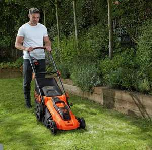 Black + Decker Cordless Lawnmower - 36V CLMA4820L2 48cm + Two 36V 2.0Ah batteries £236.99 (£3.95 delivery) Selected Stores @ Argos