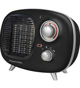 Russell Hobbs Retro Portable Electric Heater with 2yr guarantee - £18.59 (+£4.49 Non Prime) at Amazon