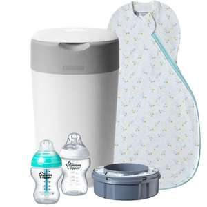 Tommee Tippee Welcome Pack - The Original Grobag, Nappy Disposal Bin Advanced Anti-Colic Baby Bottles £27.91 delivered at Tommee Tippee Shop