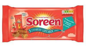 5pk soreen banana/strawberry lunchbox loaves 79p each or 2 for £1 Farmfoods sutton