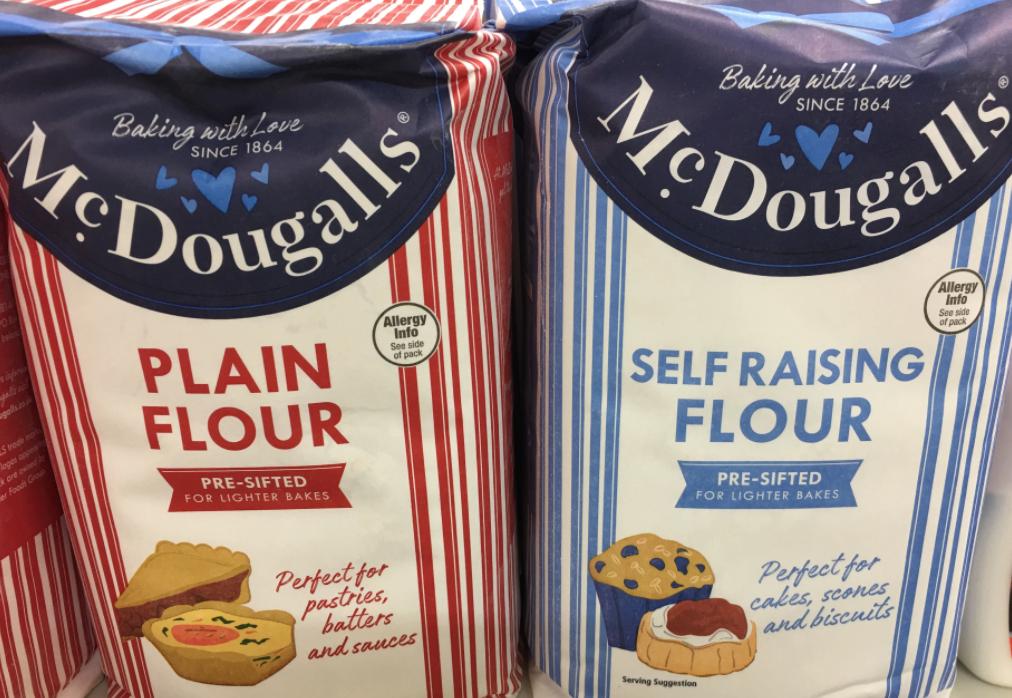 3.5kg mcdougalls plain / self raising flour 1.49p Farmfoods sutton