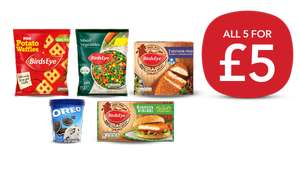 Freezer Fillers (Southern Fried Chicken Grills / Chicken Burgers/ Potato Waffles/ Mixed Vegetables/ Oreo Ice Cream) £5 or £4.50 NUS @ Co-op
