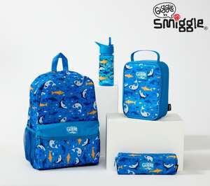 Over 50% off Smiggle Back to school bundles £20 Backpack, Lunch Box, Bottle,Pencil Case delivery is £4.99 or Free with £30 spend @ Smiggle