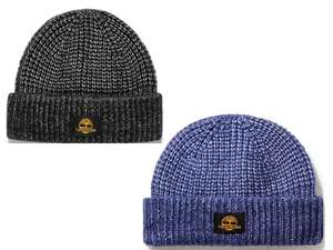 Timberland Beanies Black / Blue Shaker-stitch knit £9.45 with Code + Free UK Mainland Delivery and Returns From Timberland
