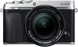 Fujifilm X-E3 Mirrorless Digital Camera, Silver with Fujinon XF18-55mm F2.8-4 Optical Image Stabilisation Lens Kit - £549 @ Amazon