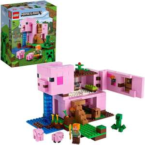 LEGO Minecraft 21170 The Pig House Building Set with Alex and Creeper Figure £35.99 at Amazon