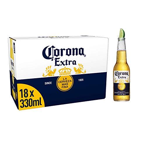Corona Extra Mexican Lager Beer Bottle, 18 x 330ml - £13 Prime / +£4.49 non Prime @ Amazon