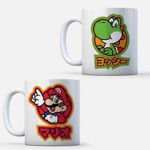 2 for £8 (£4 each) Nintendo Mugs - 28 to choose from e.g. Mario, Yoshi, Bowser + free delivery with code @ Zavvi