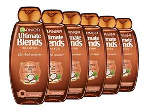 Garnier Ultimate Blends Shampoo With Coconut Oil & Cocoa Butter Smoothing (360 ml Pack of 6) - £10.15 (+£4.49 non Prime) Delivered @ Amazon