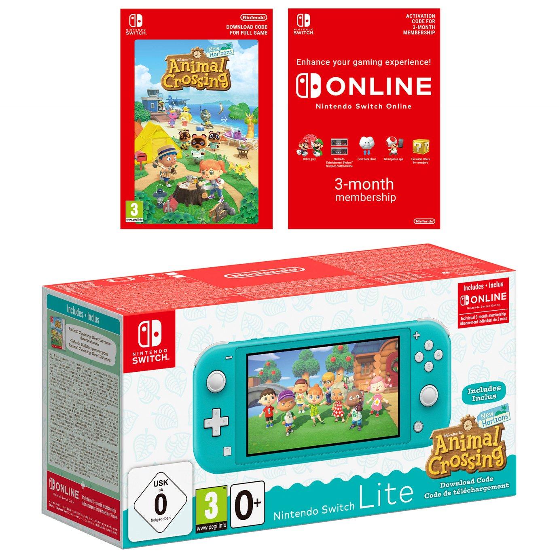 Nintendo Switch Lite Turquoise & Animal Crossing: New Horizons + Nintendo Switch Online 3 Months Membership - £199 @ Currys PC World