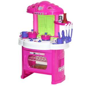 Kids Toy Kitchen Set With Lights & Sounds - Includes 12 Utensils - £10 Delivered @ WeeklyDeals4Less
