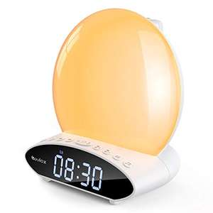 COULAX LED Night light alarm clock with sunrise, time projection & FM radio for £15.99 delivered using code @ dafeierwangluo / Amazon.