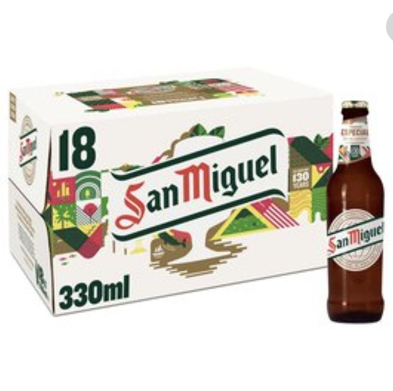 San Miguel Beer, 18x 330ml bottles - £7.56 instore @ Sainsbury's, Nottingham
