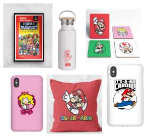 40% off Super Mario homeware & accessories, Prints, cushions, Phone Cases Prices From £5.99 with Code + £1.99 Delivery From Zavvi