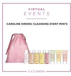 Clarins Virtual 'Cleansing Masterclass' - 9 Decent Samples £15 Booking fee at Clarins Shop