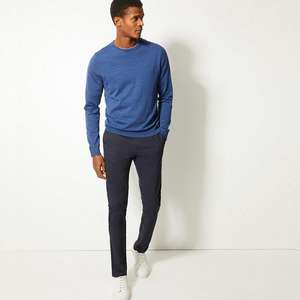 Skinny Fit Stretch Chinos - 5 colour options now £7.00 (+ £3.50 delivery or free with £50 spend) @ Marks & Spencer