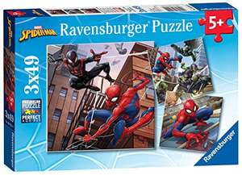 Ravensburger Marvel Spiderman - 3 x 49 piece Jigsaw Puzzles £5.99 (Prime) + £4.49 (non Prime) at Amazon