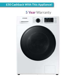 Samsung 8kg/5kg 1400rpm Ecobubble Washer Dryer [WD80TA046BE] - £549 With Code + £50 Cashback or £60 Food Voucher @ Appliance City