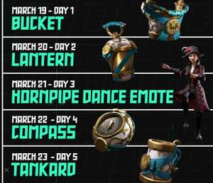 Sea of thieves twitch drops march 19th-23rd golden phoenix set