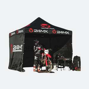 24MX Race Tent - 3m x 3m Black with walls - £101.98 Delivered @ 24MX