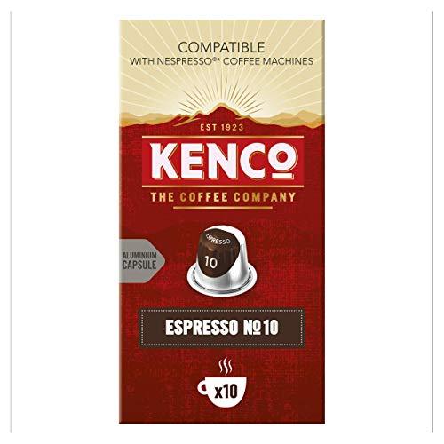 Kenco Espresso N.10 Rich - Intensity 10 - Nespresso Compatible Capsules 10 pack of 10 (100 total) £16.45 (+£4.49 non-prime) @ Amazon