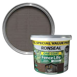 Ronseal One coat fence life 12l £12 (£5 delivery) @ B&Q