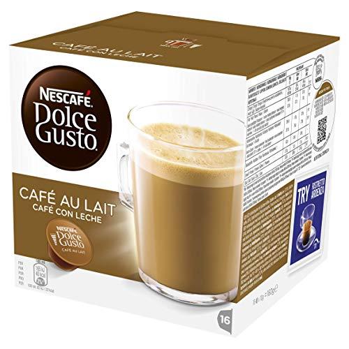 NESCAFÉ Dolce Gusto Café Au Lait Coffee Pods, 16 Capsules (48 Servings, Pack of 3, 48 Capsules) £8.97 (+£4.49 Non Prime) at Amazon