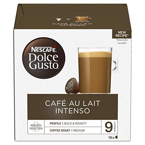 Nescafé Dolce Gusto Café Au Lait Intenso Coffee Pods, 16 Capsules - £3.50 (+£4.99 Non-Prime) @ Amazon